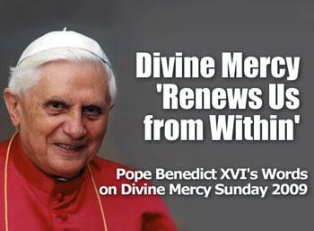 Benedict XVI promoting the divine mercy