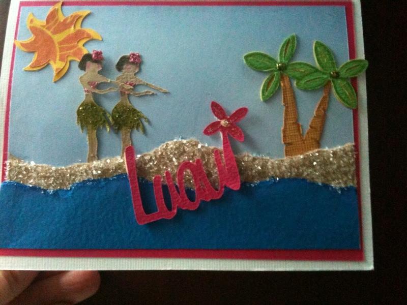handmade cards   Flying Kitten  movie medic music mama