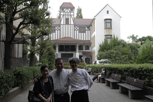 Mom and dad with Prof. Ando