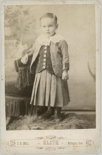 Boy with dress