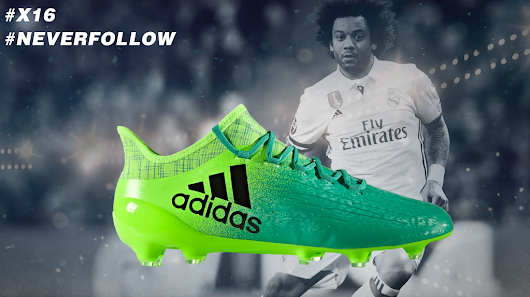 We're giving away these adidas boots signed by Marcelo!