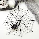 Spiderweb Decoration, 8'' diameter, Black, Halloween Crafts, Craft Supplies