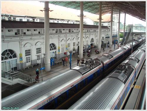 Busy rail station