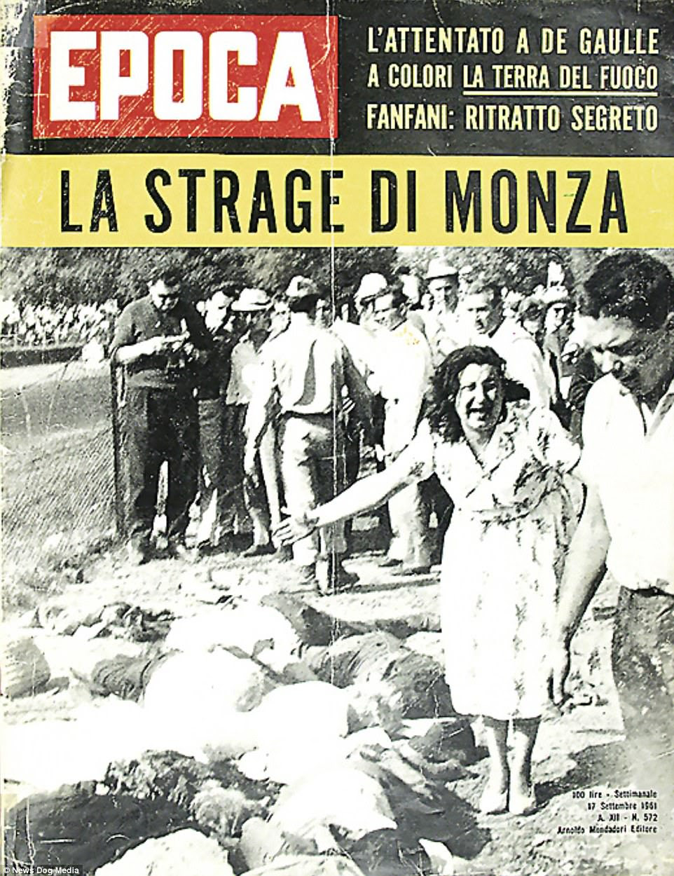 If the image of Von Trips' lifeless body lying on the race track isn't horrific enough, the image of an Italian woman standing in hysteria over the bodies of some of the 15 spectators that also perished is simply incomprehensible by today's standards