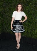 Lily Collins attends the Chanel and Charles Finch pre-Oscar dinner at Madeo Restaurant on March 1, 2014 x3 HQ's