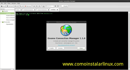 Como Instalar Gnome Connection Manager en Arch Linux