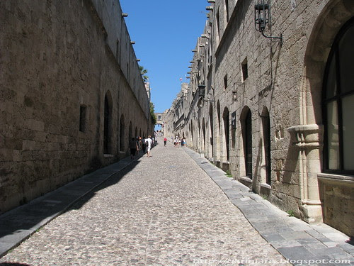 Knight's street, Rhodes medieval Old Town