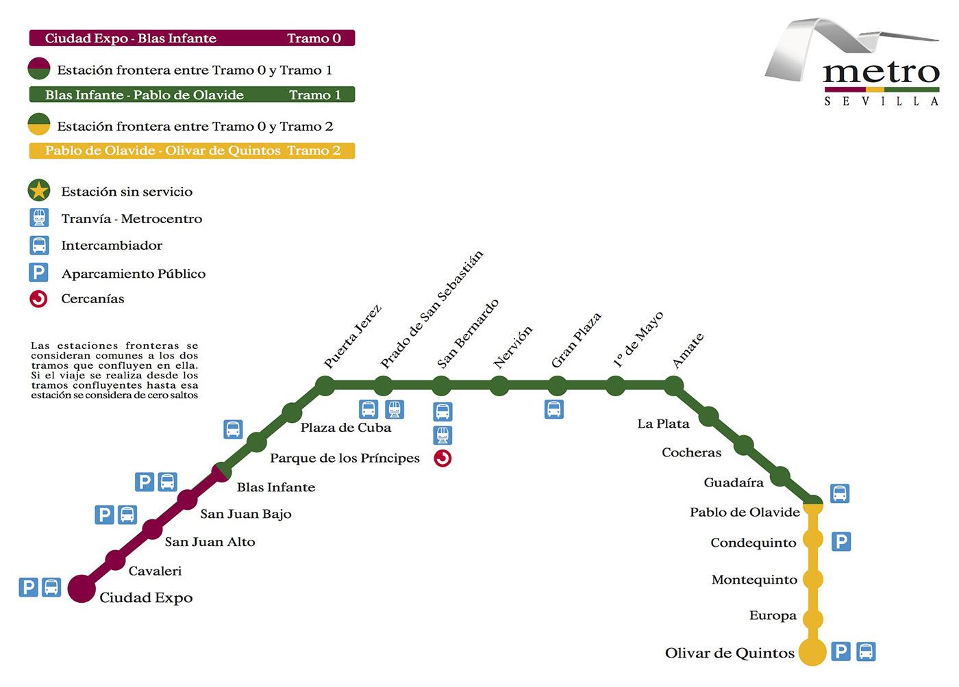 Plano de Metro de Sevilla 2017