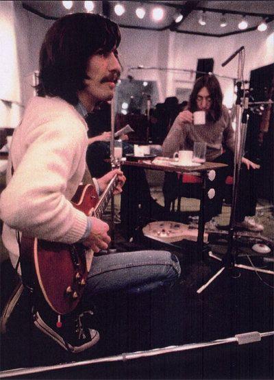 John Lennon, George Harrison