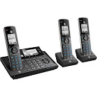 AT&T Connect to Cell CLP99387 Cordless Phone with 2 Handsets - Metallic Blue