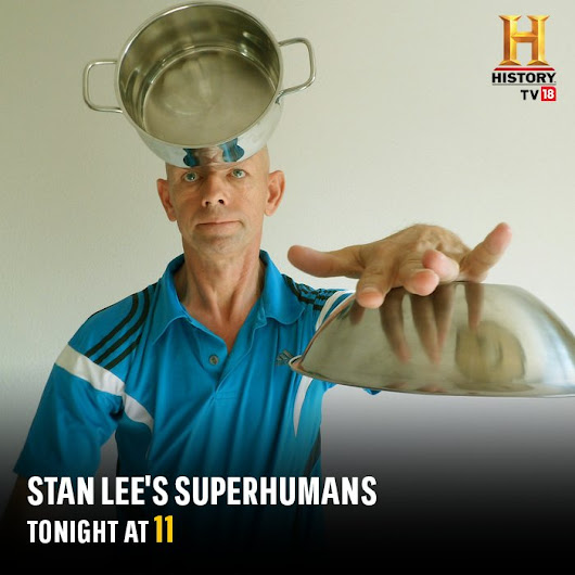 "HISTORY TV18 on Twitter: ""Tonight at 9, tune-in as Daniel meets some extraordinary individuals including the world's first Cyborg! @TheRealStanLee's #SuperHumans """