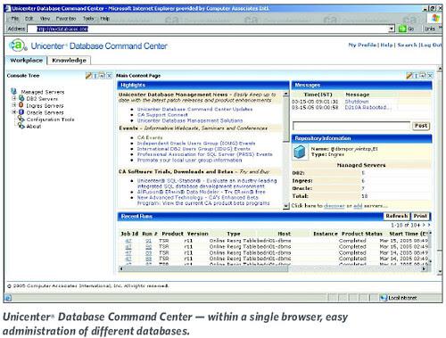 Unicenter® Database Command Center
