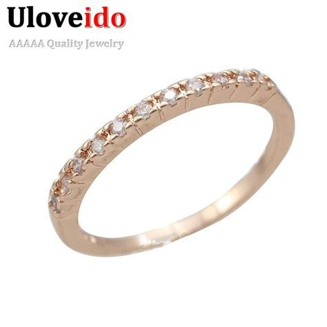 Women Wedding Rings Fianit Rose Gold Color Cubic Zirconia