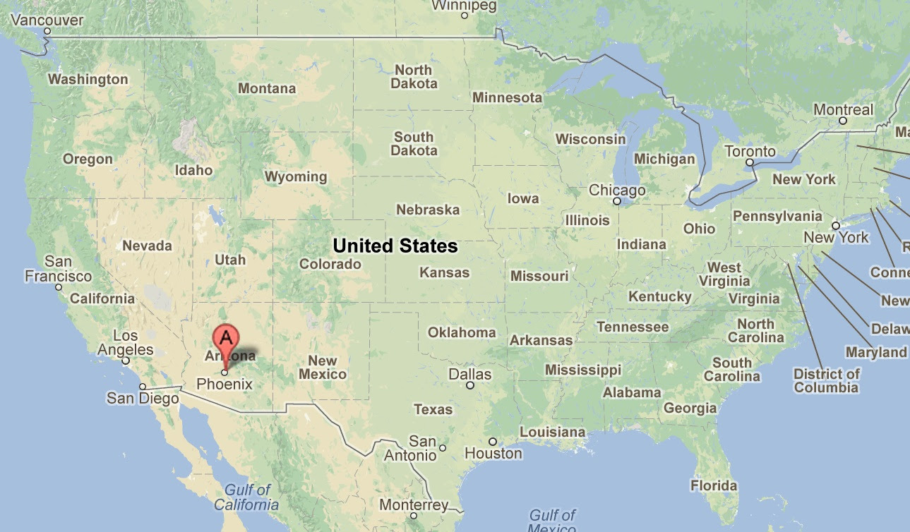 phoenix in us map Phoenix Us Map phoenix in us map