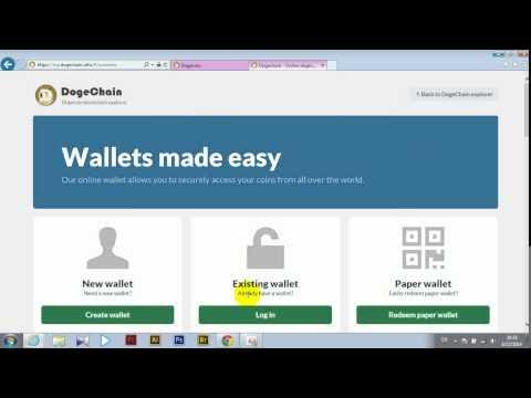 วิธีการสร้าง wallet ของ Doge และ BTC