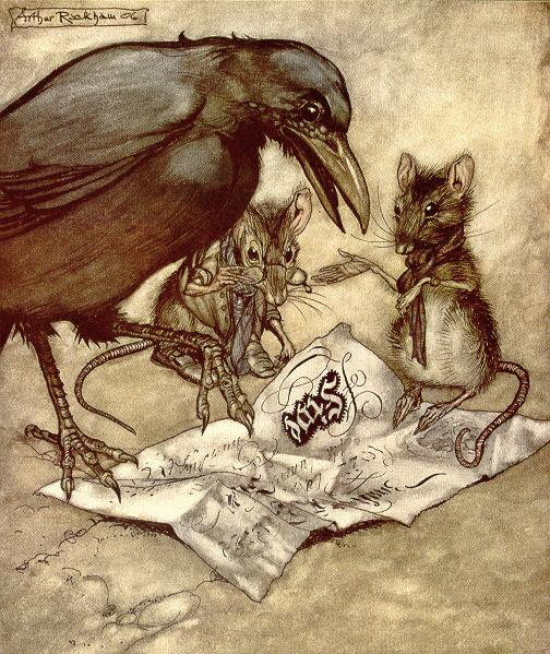 Arthur Rackham, Solomon Crow and the Mice