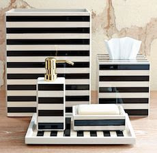 List Of Black And White Striped Bathroom Accessories