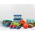 World Kitchen, Inc. Pyrex 4-Piece Decorated Food Storage Set