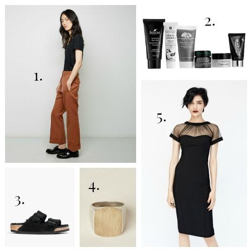 Jil Sander Trousers - Sephora Favorites Collection - Birkenstock Sandals - Maison Margiela Ring - Maggy London Dress