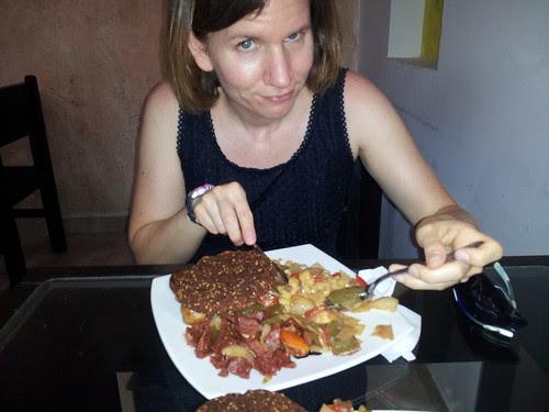 Sarah & lunch @ Vital, Santa Marta