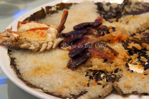 Steamed Glutinous Rice with Fresh Water Prawn & Wax Meat 03