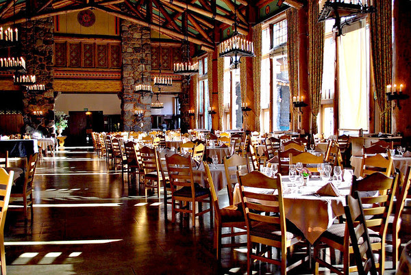The Dining Room of the Ahwahnee Hotel