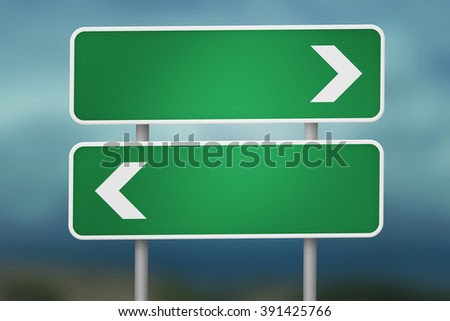 Blank Road Sign Stock Photos, Royalty-Free Images & Vectors ...