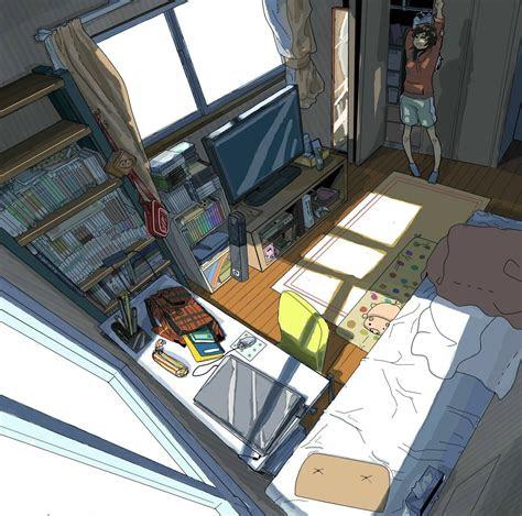 anime art anime scenery bedroom amazing detail
