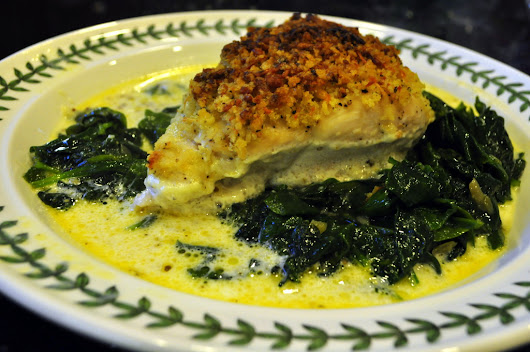 Chicken Imperial over Sauteed Spinach - Create Amazing Meals