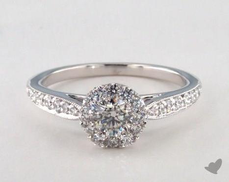 Wedding ring with small diamonds