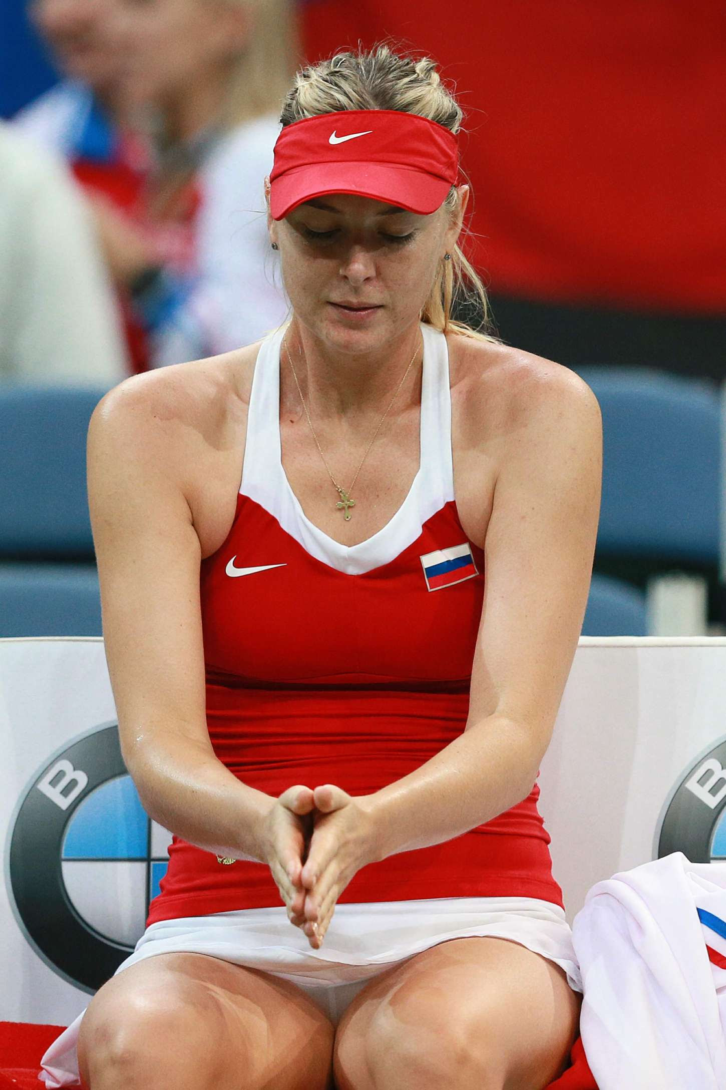 Maria Sharapova at the Fed Cup Czech Republic vs Russia in Prague