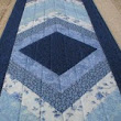 Handmade Quilted Table Runner, Patchwork Tapered Blue, 13″x52″ |