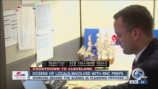 More than a dozen RNC staffers are from the Cleveland area