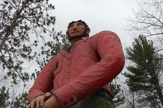 Michigan Roadside Attractions: Paul Bunyan & Babe The Blue Ox Statues, Ossineke