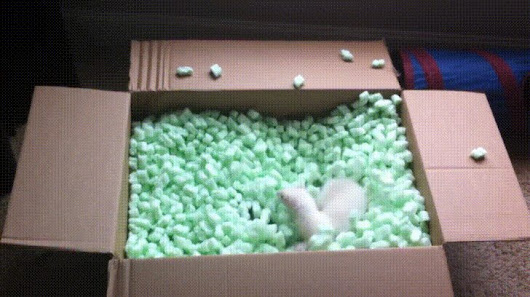 Proper use of packing peanuts