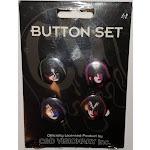 "KISS 4 Piece 1"" Button Set"