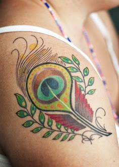 Tatuaje Pluma De Pavo Real Rincon Util