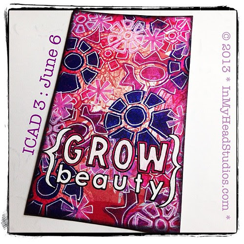 {be creative everyday} JUNE 6 + Index-Card-A-Day 2013