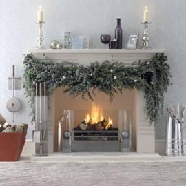 holiday fireplace   makingmarthaproud