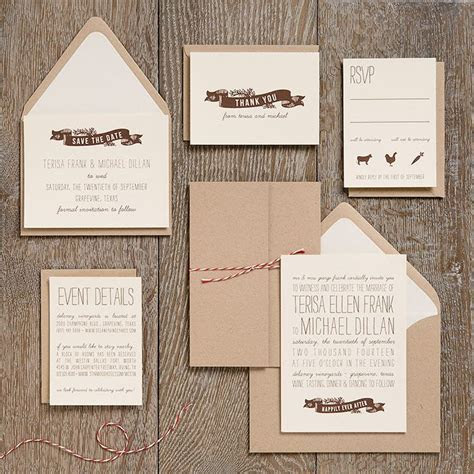 Another craft paper option. Love the twine! Wedding