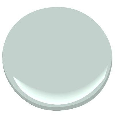 Benjamin Moore Woodlawn blue, peaceful, comforting, promotes a feeling of tranquility, can look blue or green depending on lighting
