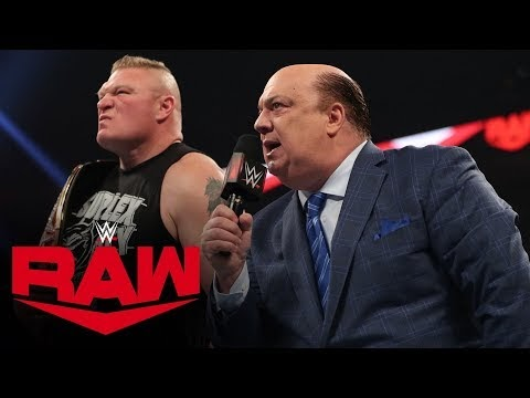 Brock Lesnar entering Royal Rumble 2020 as a Number One Entrant
