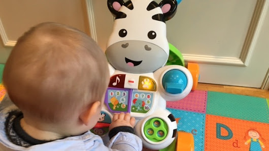Review: Fisher-Price Learn with Me Zebra Walker for taking baby from sitting to walking - Mummy in the City