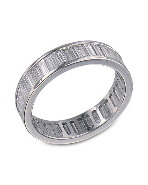 Platinum Baguette Diamond Wedding Band   Turgeon Raine