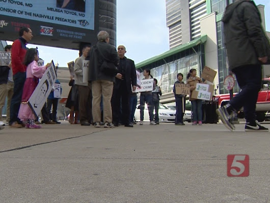Peaceful Protest Held In Nashville Supports Minorities