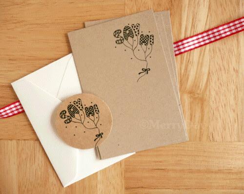 the brown series : Say Hi mini letter set
