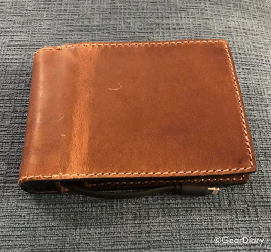 Nomad Leather Battery Wallet Charges Your Phone and Protects Your Info • GearDiary