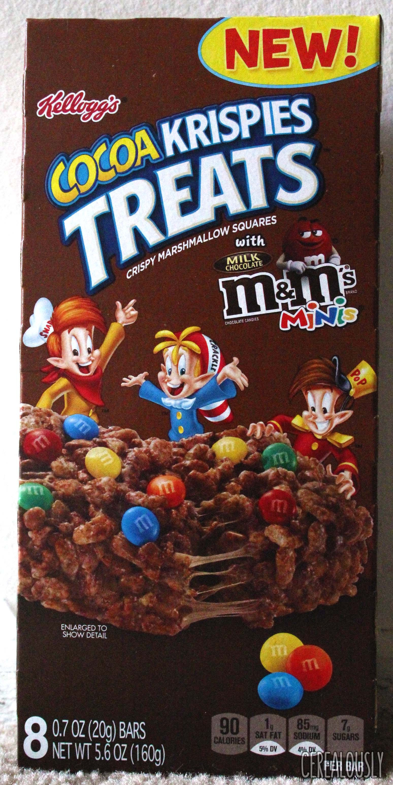 Review: Kellogg's Cocoa Krispies Treats with M&M's Minis