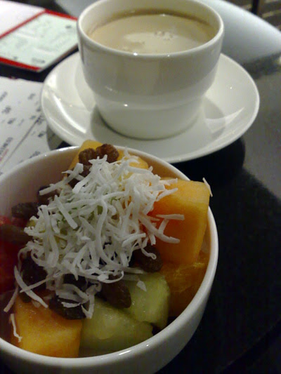 fruit and coffee