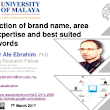 Selection of brand name, area of expertise and best suited keywords